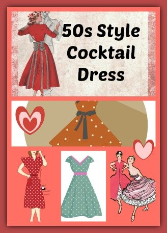50s Style Cocktail Dress – Vintage Tea Dress – Vintage Prom Dress