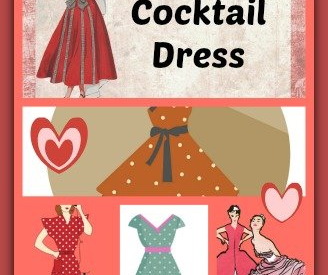 50s style cocktail dress