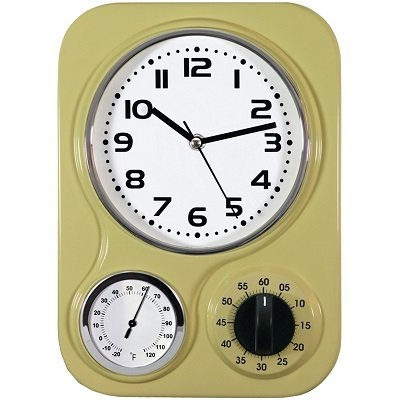 U003eRetro Kitchen Clock With Temperature And Timer