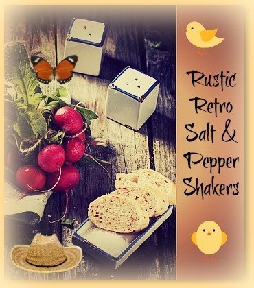 7 Rustic Vintage Style Salt And Pepper Shakers That Would Make Lovely Retro Gifts