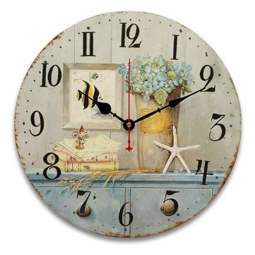 Vintage Retro Style Wall Clocks Antique Flavour Kitchen Shabby Chic