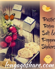 Rustic Vintage Style Salt And Pepper Shakers