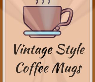 Vintage Style Coffee Mugs