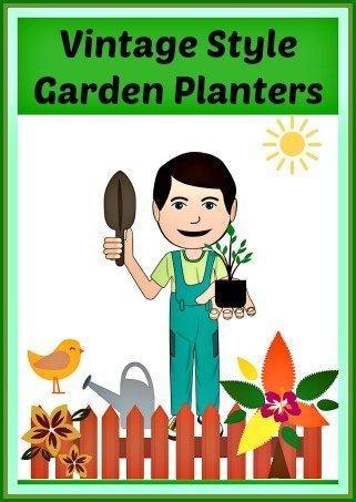 Vintage Inspired Garden Planter